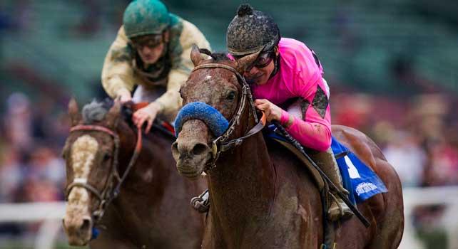 Guilt Trip with jockey JOE TALAMO up wins the 2013 running of the Strub Stakes at Santa Anita Park in Arcadia, California on February 02, 2013.