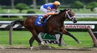 28 August 10: Uncle Mo (Indian Charlie) breaks his maiden on Travers Day at Saratoga Race Course in Saratoga Springs, New York.