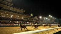 19 June 2009: Final Copy and Robbie Albarado win the first night race , race 8, in the history of Churchill Downs in Louisville, Kentucky.