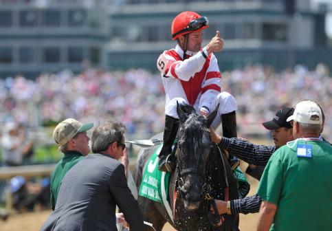 30 April 2010: Unrivaled Belle with Kent Desormeaux up takes the G2 La Troienne Stakes at at Churchill Downs in Louisville, Kentucky.