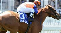 Zagora (no. 3), ridden by Javier Castellano and trained by Chad Bown, wins the grade 3 Gallorette Handicap for fillies and mares three years old and upward on May 19, 2012 at Pimlico Race Course in Baltimore, Maryland (Bob Mayberger/Eclipse Sportswire)