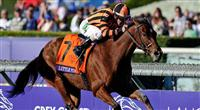 Nov. 03, 2012 - Arcadia, California, U.S - Little Mike (FL)ridden by Ramon A. Dominguez and trained by (Trainer), wins the Breeders' Cup Turf Dale Romans at Santa Anita Park in Arcadia, CA.
