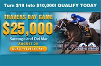 WIN on Travers Day Action with the $25,000 Travers Day Game!
