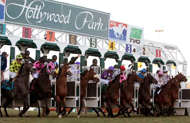 November 27, 20 .Horses leave the gate for the Generous Stakes at Hollywood Park, Inglewood, CA