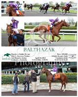 Balthazar wins a Maiden Special Weight at Keeneland with Joel Rosario.