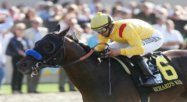 August 28 2010. Richard's Kid and Mike Smith win 20th running of the Pacific Classic(GI) at Del Mar Race Track in Del Mar CA.