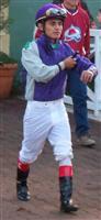 ABEL CEDILLO - apprentice jockey @ Santa Anita Park.