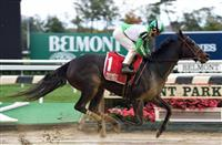 Bar of Gold wins at Belmont (10-22-16)