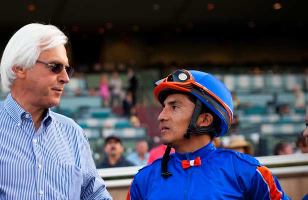 Bob Baffert and Rafeal Bejarano at Santa Anita Park, Arcadia California on September 29, 2012.
