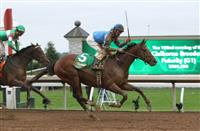 Brody's Cause flies home in the Claiborne Breeders' Futurity
