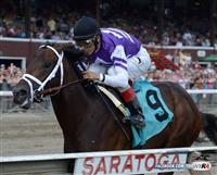 No photo finish necessary - Competitive Edge delivered on the billing, romping by 10 1/4 beneath John Velazquez.