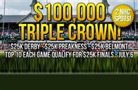 NEW - $100,000 Triple Crown Series from DerbyWars!