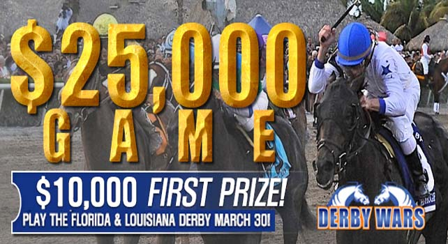 DerbyWars Florida Derby & Louisiana Derby $25,000 Game