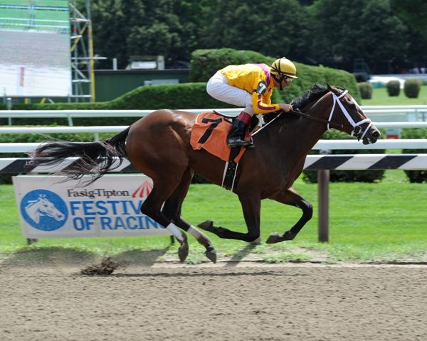 Dreaming of Julia breaks maiden at Saratoga (8-6-12).