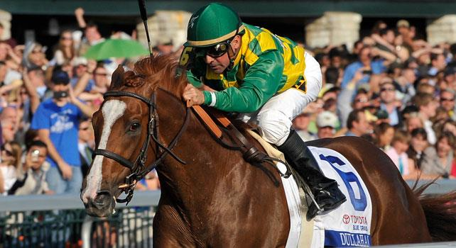 Dullahan captures the 2012 Blue Grass Stakes at Keeneland.