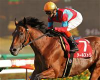 Earnestly winning the Grade 2 Sankei Sho All Comers on September 25th at Nakayama Racecourse.