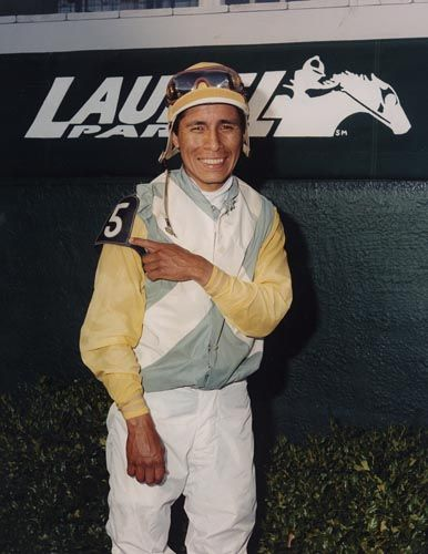 Jockey Edgar Prado.