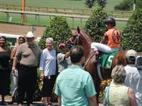 September 15, 2009: Fast Fuzzy in winners' circle at Louisiana Downs.