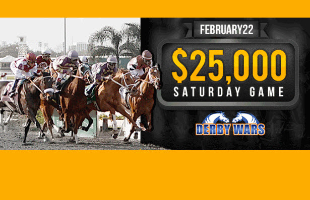 DerbyWars $25,000 Feb. 22 Game