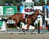 Fort Hughes wins debut at Belmont Park (10-10-10).