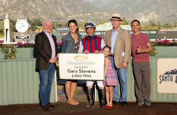 Gary Stevens, following his 5,000th career win