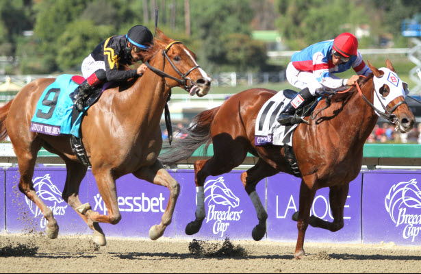 Groupie Doll wins her second Breeders' Cup Filly & Mare Sprint.