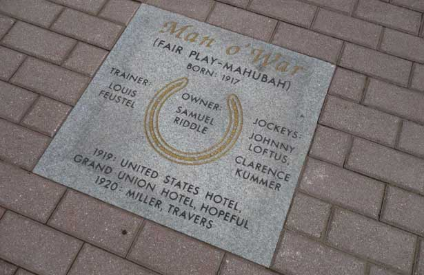 "NYRA and Saratoga 150 Committee Unveil ""Hoofprints Walk Of Fame"" at Saratoga Race Course"