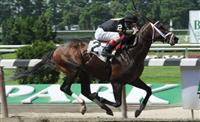 Hunters Bay breaks maiden at Belmont Park.