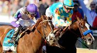 I'll Have Another defeats Bodemeister in the Preakness