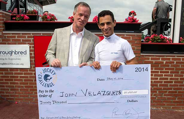John Velazquez Wins 2014 Xpressbet Hall Of Fame Jockey Challenge