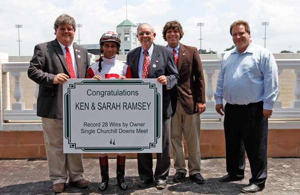 RAMSEYS BREAK CHURCHILL DOWNS RECORD FOR SINGLE-SEASON WINS BY OWNER.