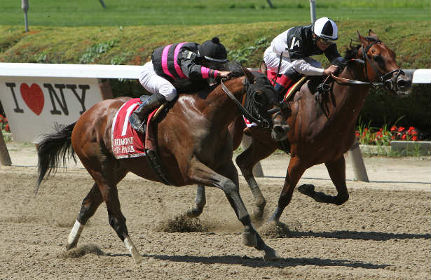 Kid Cruz edges Captain Serious in the 2014 Grade 3, Dwyer Stakes