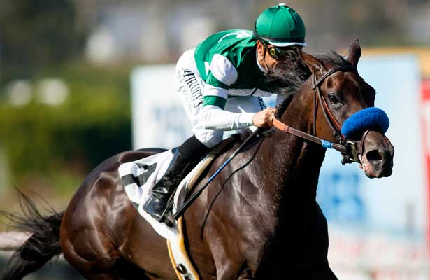 Lady of Shamrock with Mike Smith wins the American Oaks at Betfair Hollywood Park in Inglewood, California on July 14, 2012.
