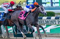 Misconnect, ridden by Javier Castellano, wins a maiden race at Belmont Park on Jockey Club Gold Cup Day at Belmont Park in Elmont, New York on September 28, 2013.