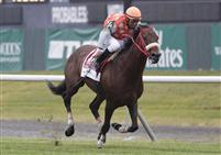 Mission Approved, with jockey Jose Espinoza, defeats Gio Ponti in the 2011 Manhattan Stakes G1