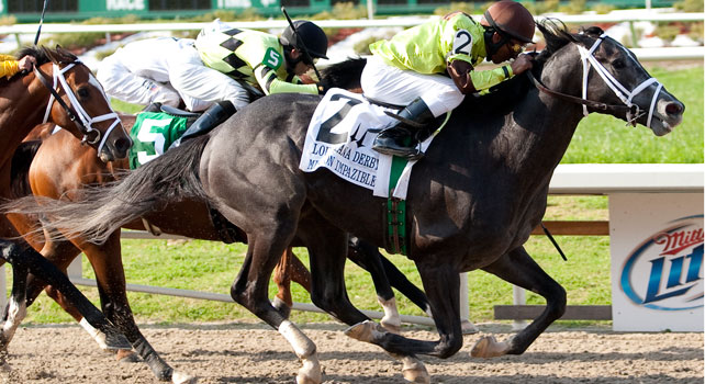 Mission Impazible wins the 2010 Louisiana Derby