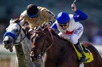 No Jet Lag with Mike Smith up wins the City of Hope Mile Stakes at Santa Anita Park in Arcadia, CA on October 5, 2013. (Alex Evers/ Eclipse Sportswire)