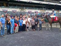 Nonna's Boy in the Winner's Circle at Belmont Park.