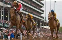 Orb wins 2013 Kentucky Derby.