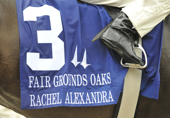Rachel Alexandra readies for the Fair Grounds Oaks