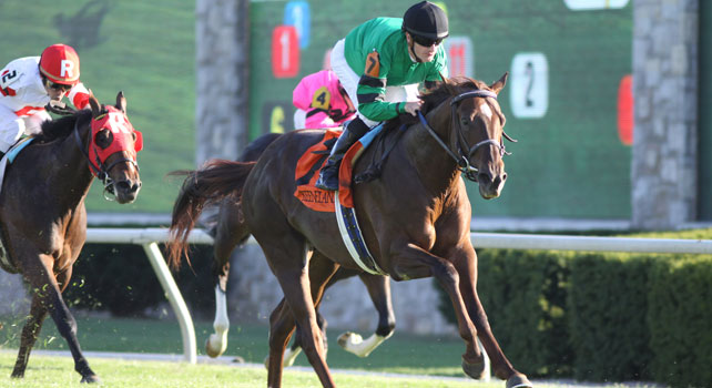 Rogue Romance wins the Bourbon at Keeneland