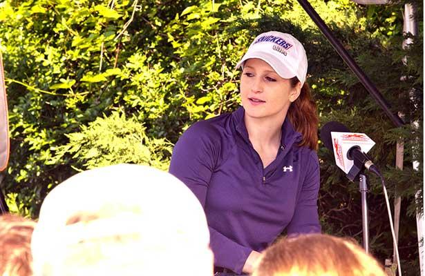 Jockey Rosie Napravnik at Pimlico (5-17-13).