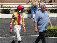 September 15, 2009: Sam David Jr. with jockey Francisco Torres following the 3rd race at Louisiana Downs.