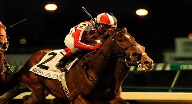 Santiva wins 2010 Kentucky Jockey Club Stakes.