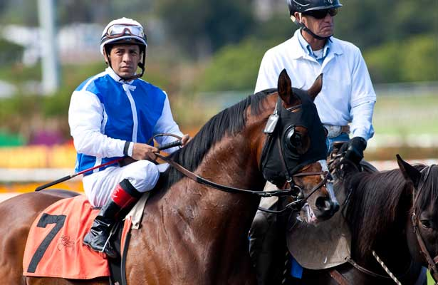 04 June 2011: Setsuko and Victor Espinoza in the Californian Stakes at Hollywood Park in Inglewood, CA.