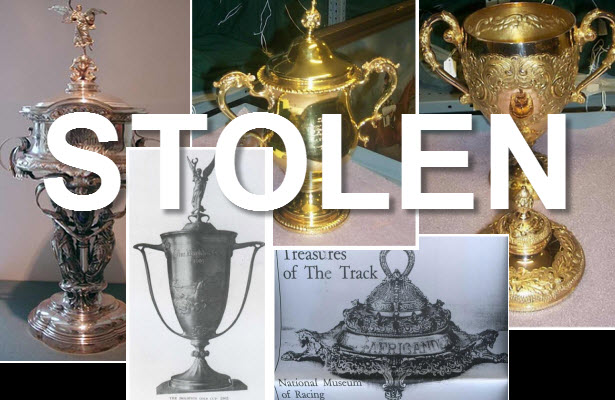 Stolen trophies from the Racing Hall of Fame