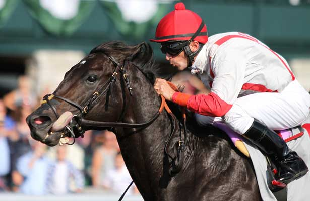Sum of the Parts and Leandro Goncalves win the 161st running of the Stoll Keenon Ogden Phoenix Grade 3 for trainer Thomas Amoss and owner Lkaravich Stable at Keeneland Race Course. October 4, 2013