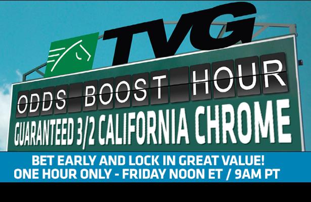 TVG odds boost promotion