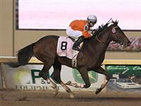 Texas Bling winning the Remington Springboard Mile