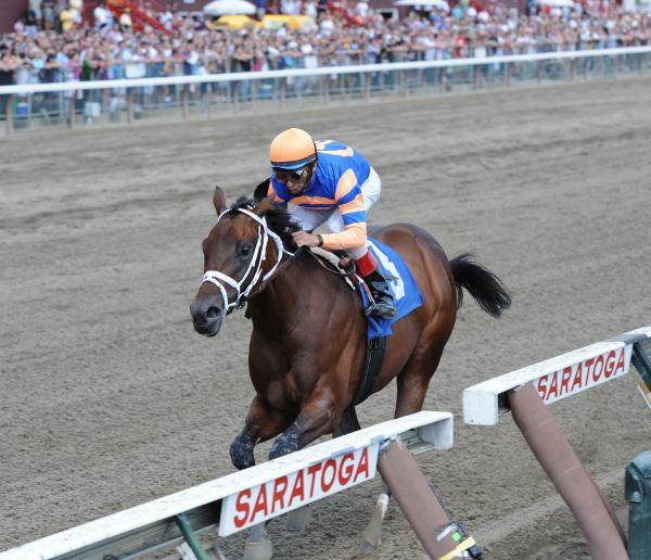 Uncle Mo breaks maiden at Saratoga (8-28-10).
